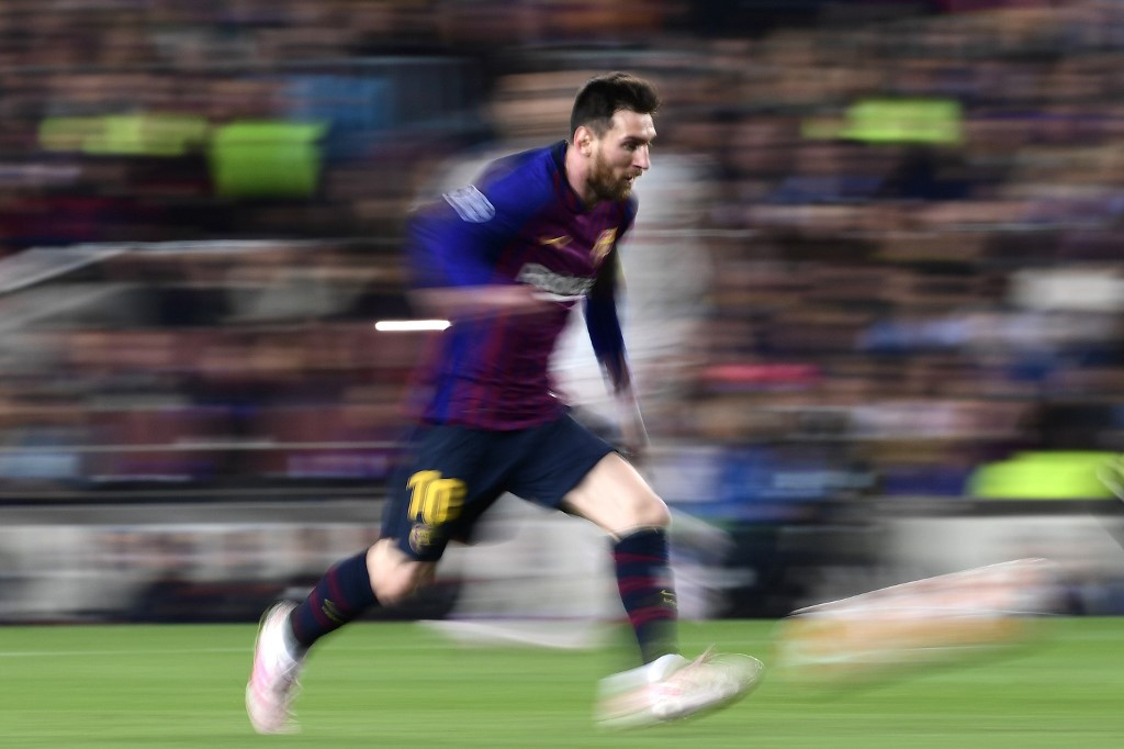 Captain Messi showing Barcelona the way