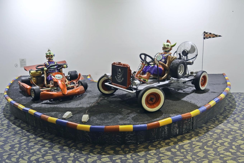 """""""Go-Kart Heridonology"""" by Heri Dono."""