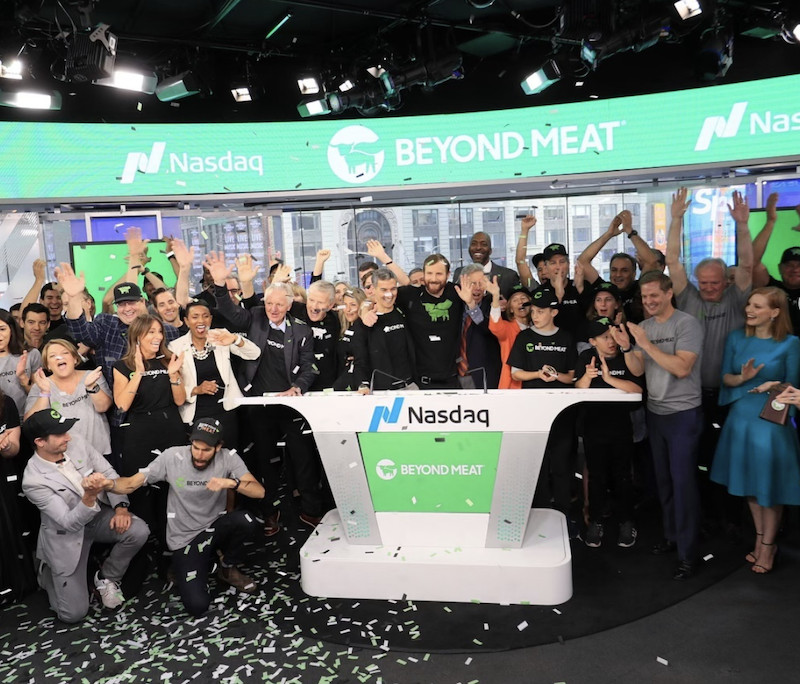 Beyond Meat makes sizzling Wall Street debut