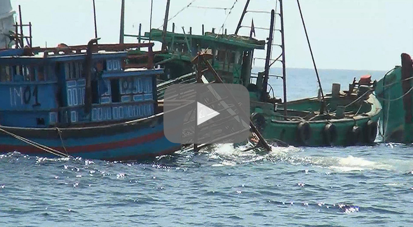 Video: Indonesia Sinks Scores Of Boats To Deter Illegal