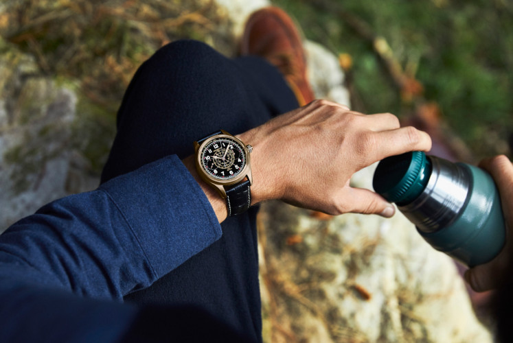Montblanc's 1858 has a split-second chronograph for measuring time.