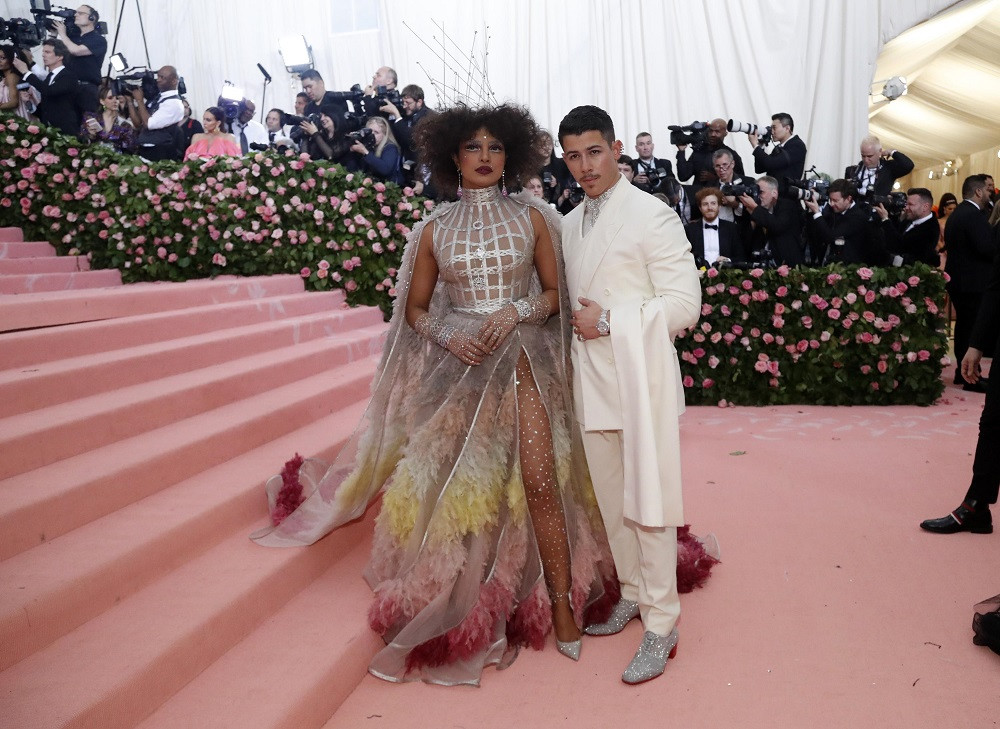 Priyanka Chopra and Nick Jonas at the Metropolitan Museum of Art Costume Institute Gala in New York City, US, on May 6, 2019.
