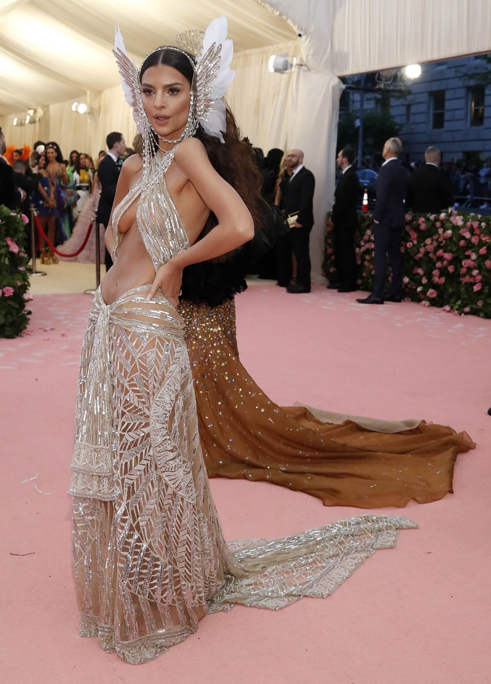 Emily Ratajkowski at the Metropolitan Museum of Art Costume Institute Gala in New York City, US, on May 6, 2019.
