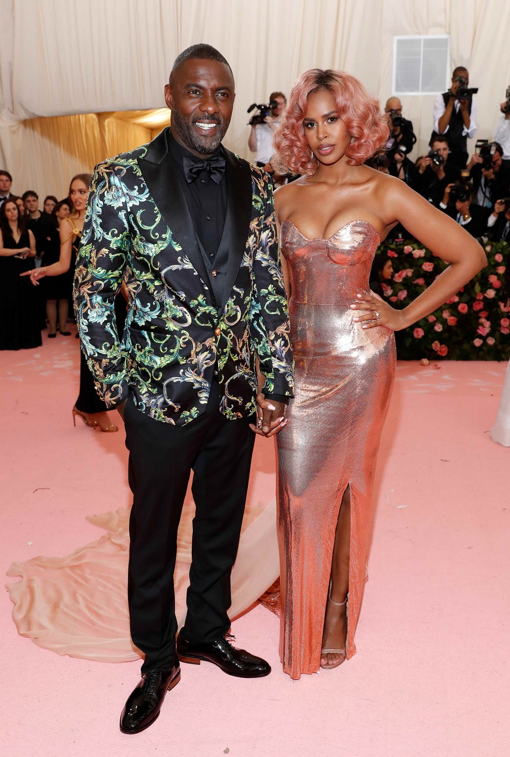 Idris Elba and Sabrina Dhowre at the Metropolitan Museum of Art Costume Institute Gala in New York City, US, on May 6, 2019.