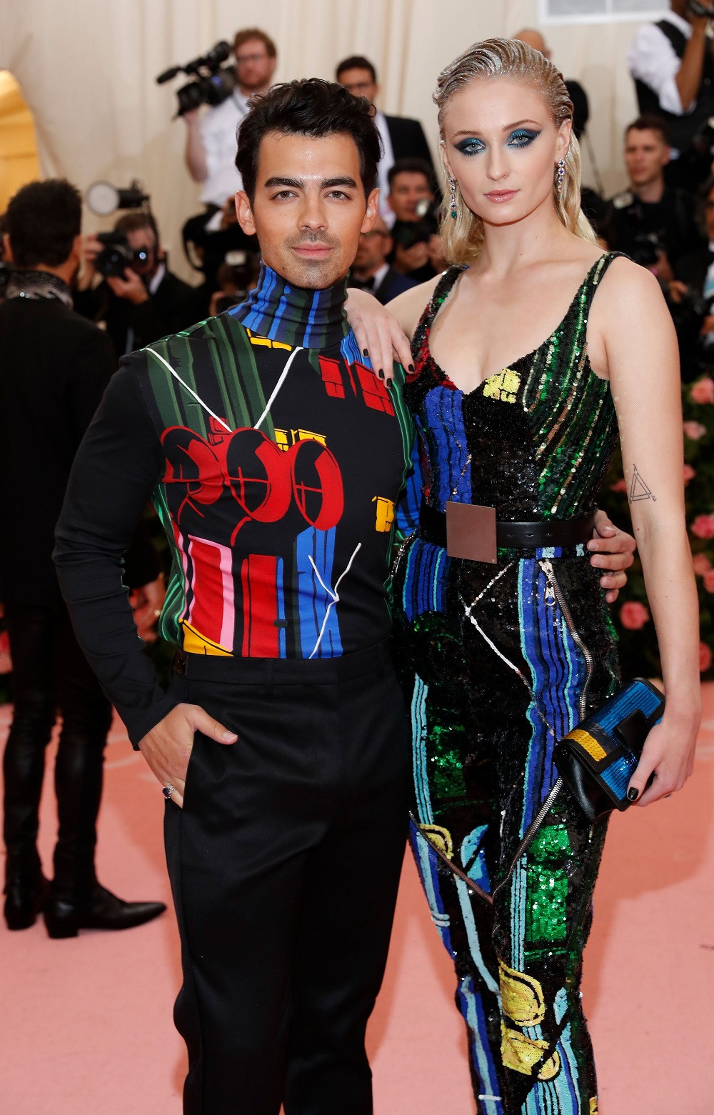 Joe Jonas and Sophie Turner at the Metropolitan Museum of Art Costume Institute Gala in New York City, US, on May 6, 2019.