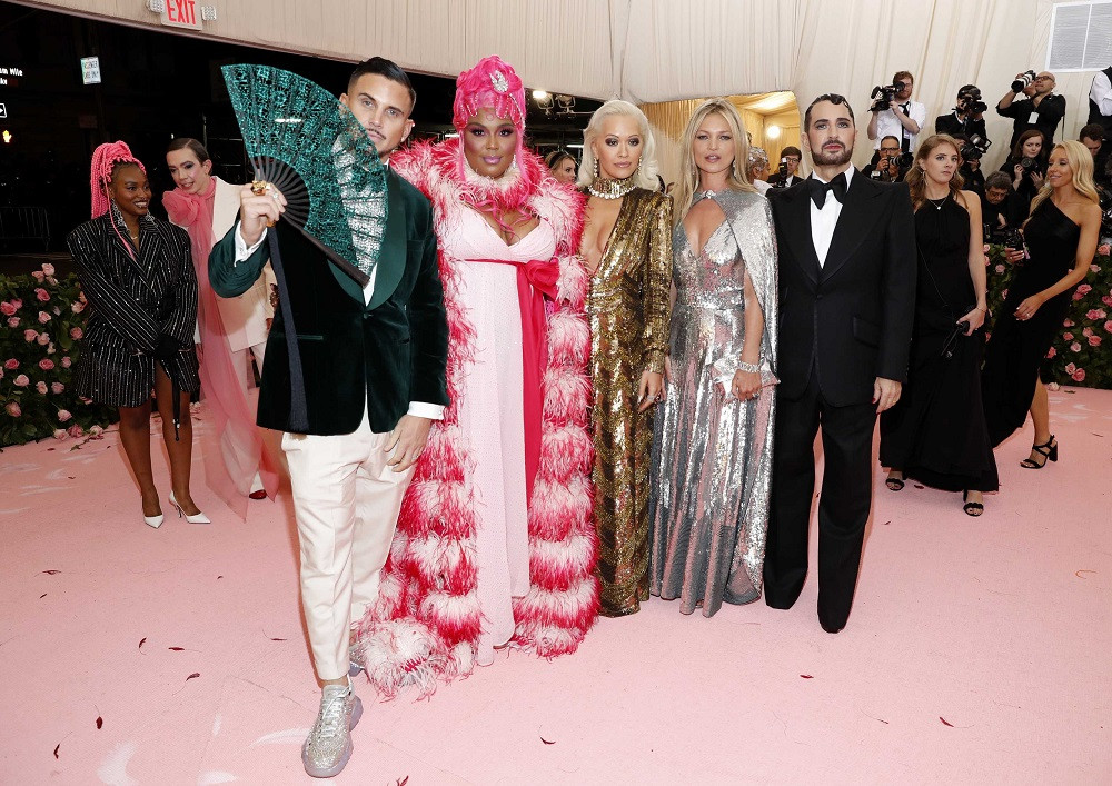 Char DeFrancesco, Lizzo, Rita Ora, Kate Moss and Marc Jacobs at the Metropolitan Museum of Art Costume Institute Gala in New York City, US, on May 6, 2019.
