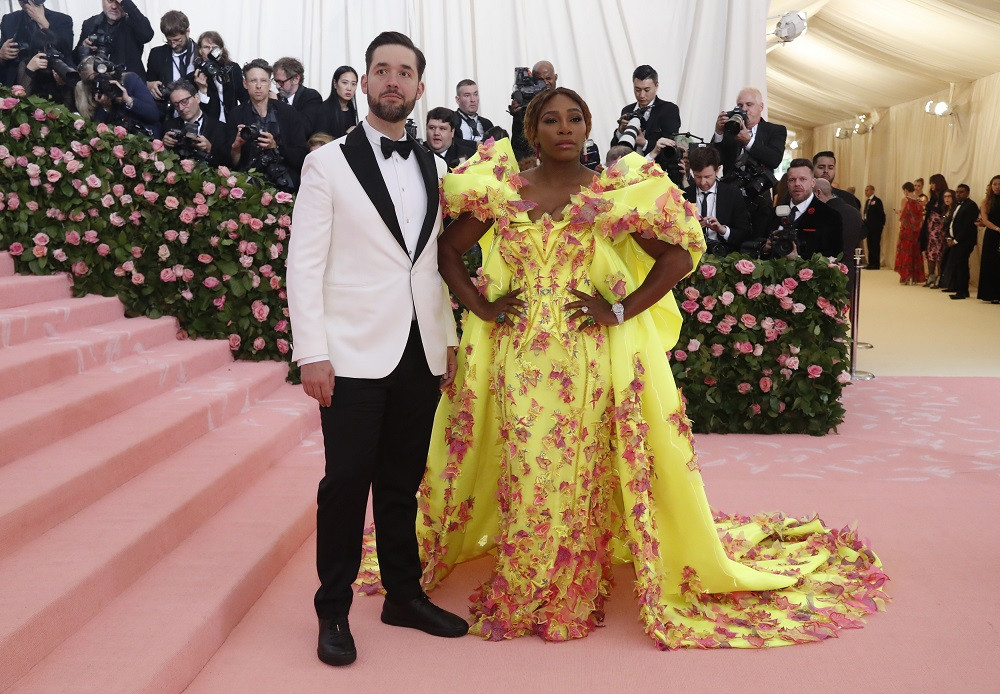 Serena Williams and Alexis Ohanian at the Metropolitan Museum of Art Costume Institute Gala in New York City, US, on May 6, 2019.