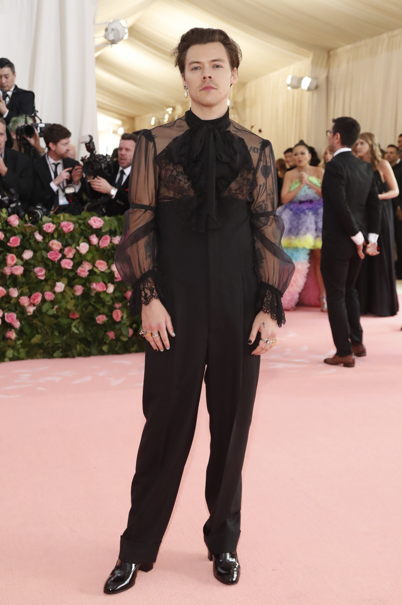 Harry Styles at the Metropolitan Museum of Art Costume Institute Gala in New York City, US, on May 6, 2019.