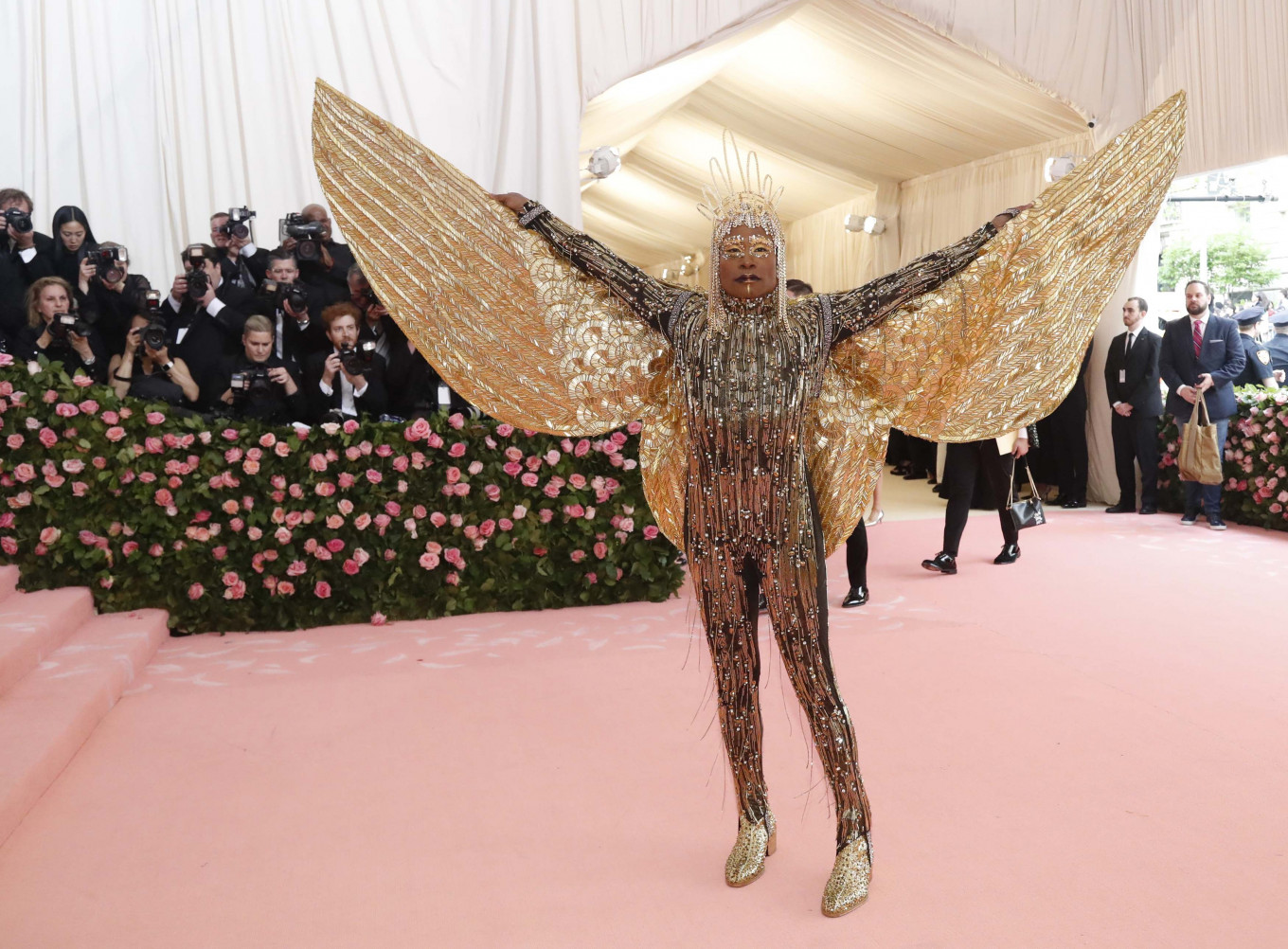 Billy Porter at the Metropolitan Museum of Art Costume Institute Gala in New York City, US, on May 6, 2019.