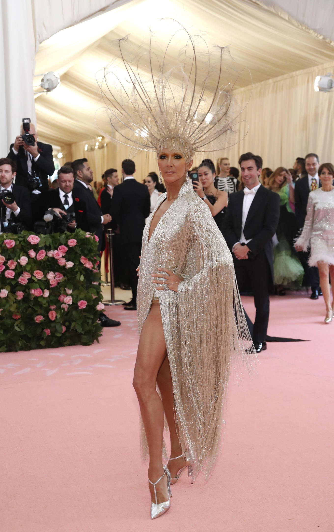 Celine Dion at the Metropolitan Museum of Art Costume Institute Gala in New York City, US, on May 6, 2019.