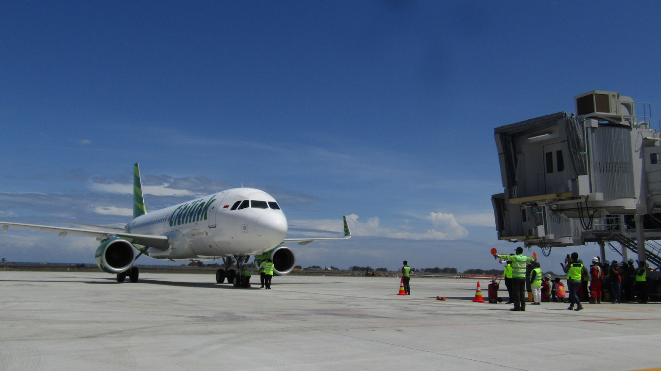 Citilink makes first commercial landing at new Yogyakarta airport