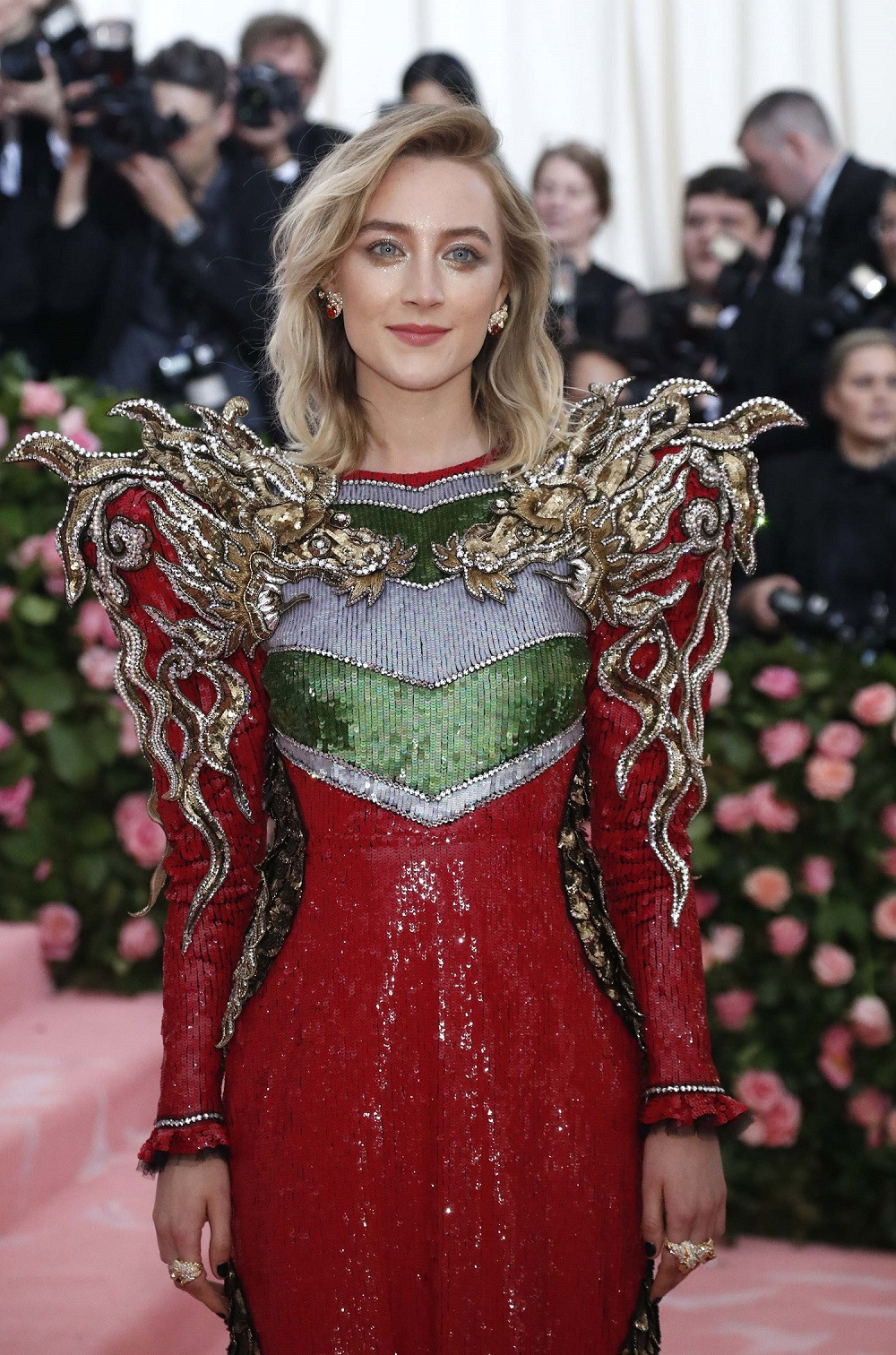 Saoirse Ronan at the Metropolitan Museum of Art Costume Institute Gala in New York City, US, on May 6, 2019.