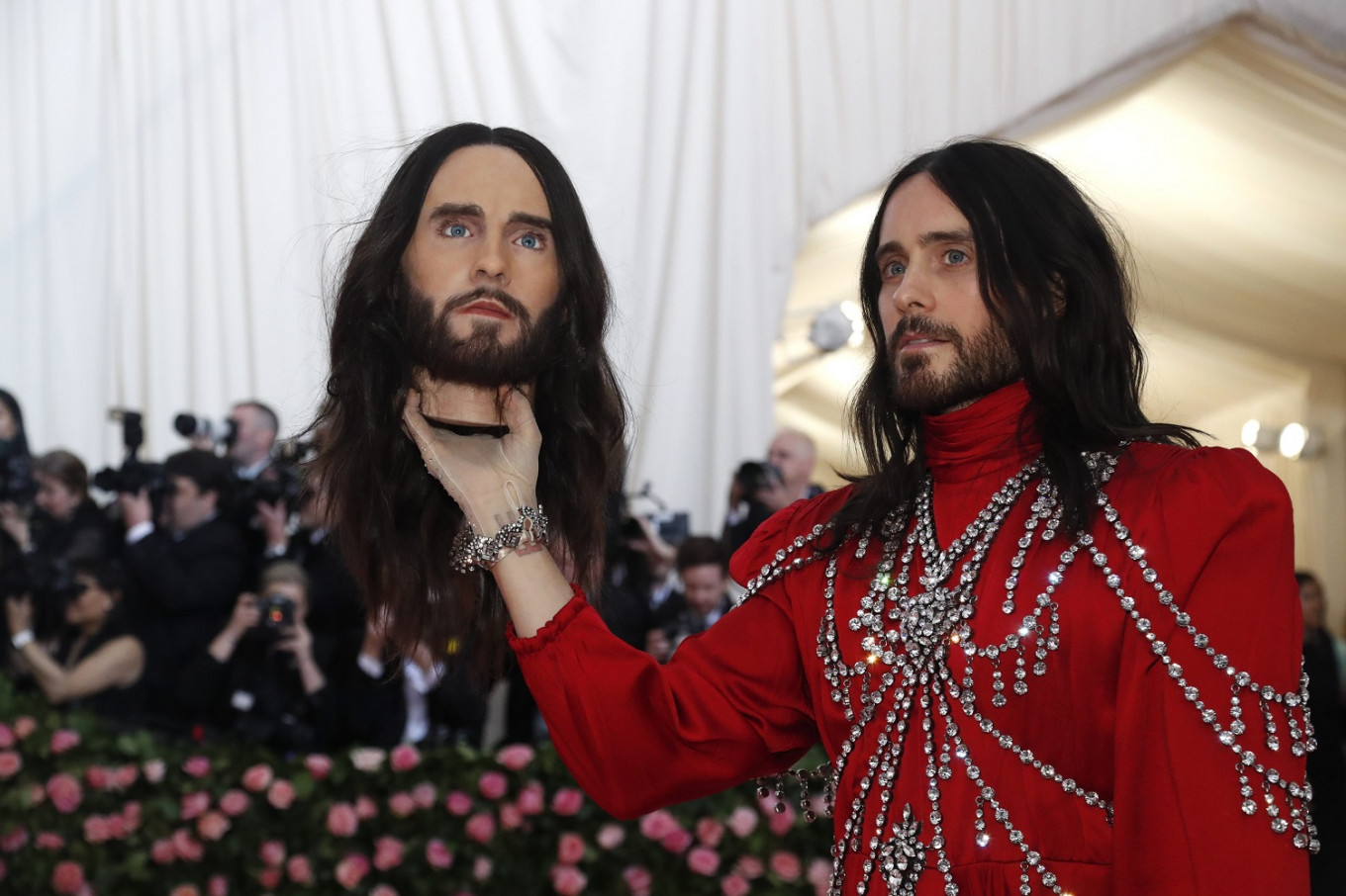 Jared Leto at the Metropolitan Museum of Art Costume Institute Gala in New York City, US, on May 6, 2019.