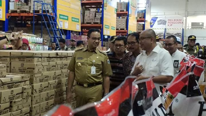 Anies inspects market following skyrocketing garlic price