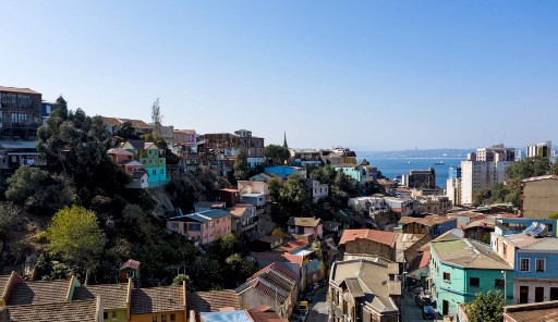 View of Valparaiso, Chile, on April 22, 2019.