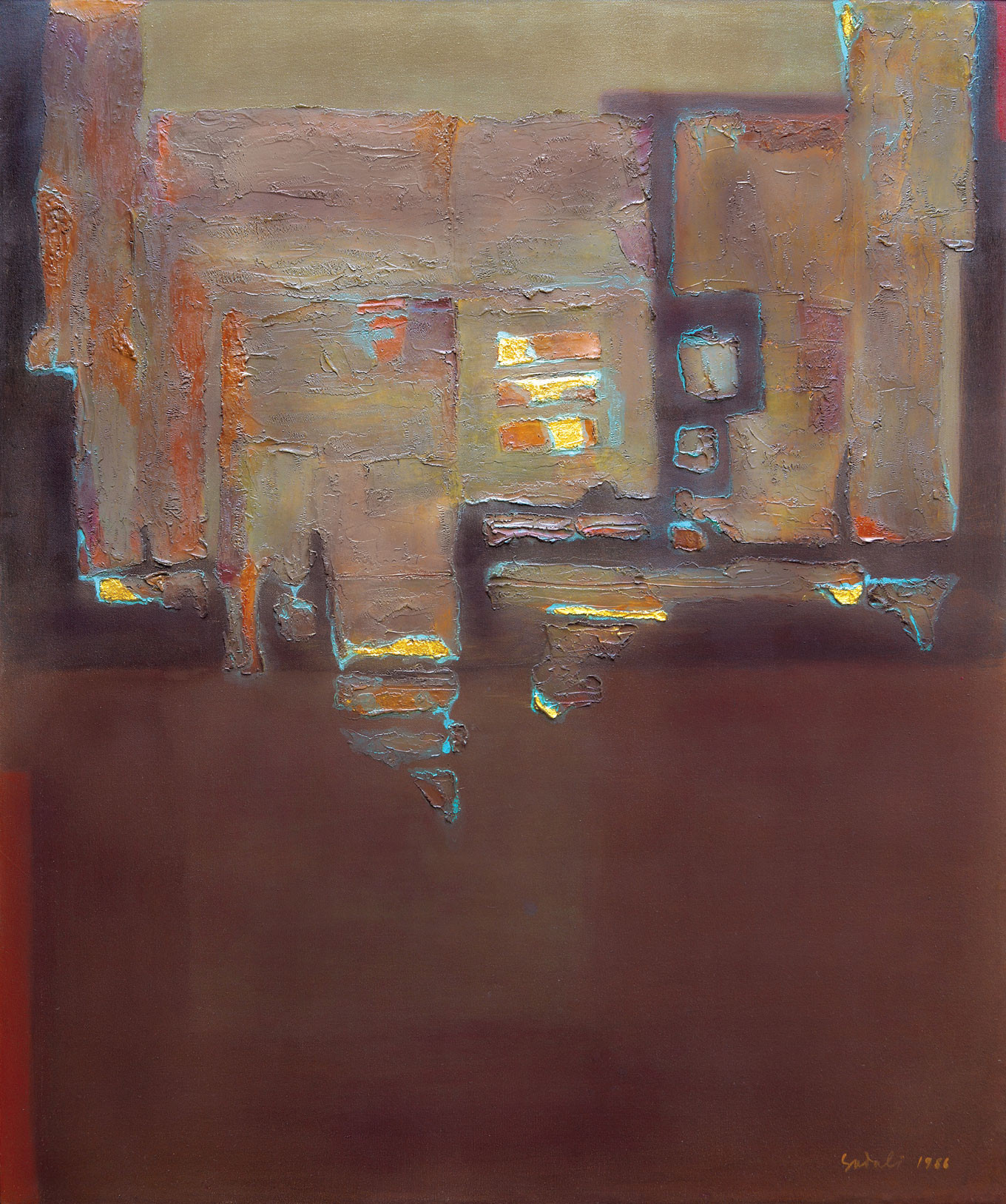 Lot 644 Bidang dengan Bongkah Emas by Ahmad Sadali Image