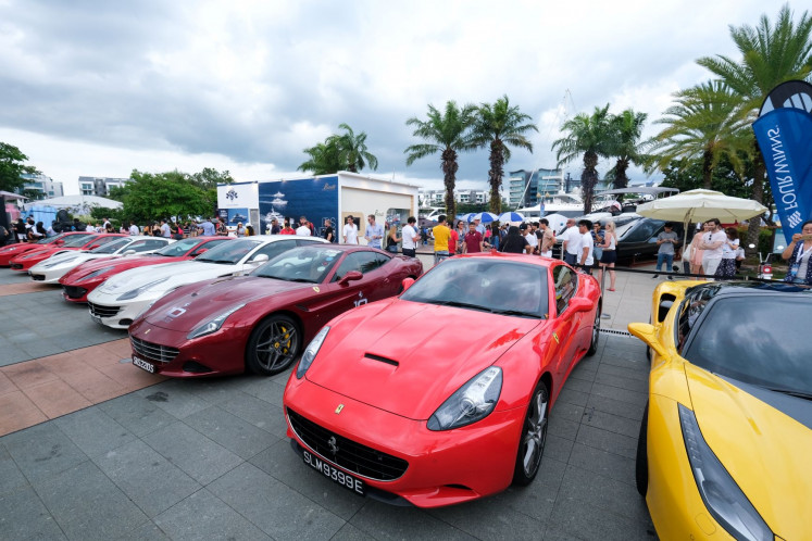 Italian horsepower: As part of the opulent yachting lifestyle, SYS 2019 also hosts several supercar meets of local car clubs.