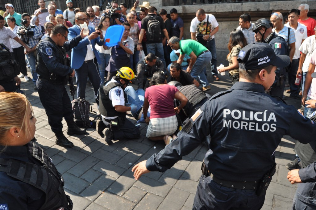 Two dead, two wounded in shooting at central square in Mexico