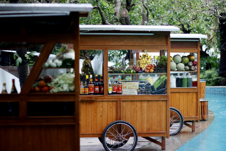 Hawker food stalls by the pool at DoubleTree by Hilton Jakarta - Diponegoro.