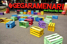 The #GegaraMenari art installation is placed at the ISI Surakarta campus. JP/Ganug Nugroho Adi