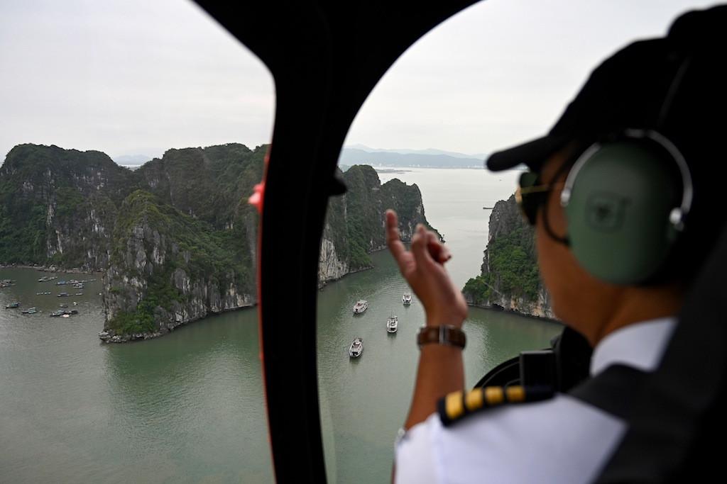 Ha Long heli: Vietnam launches chopper rides in famous bay