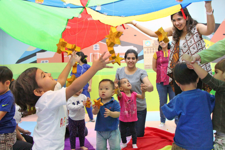 Tot school is all about playtime