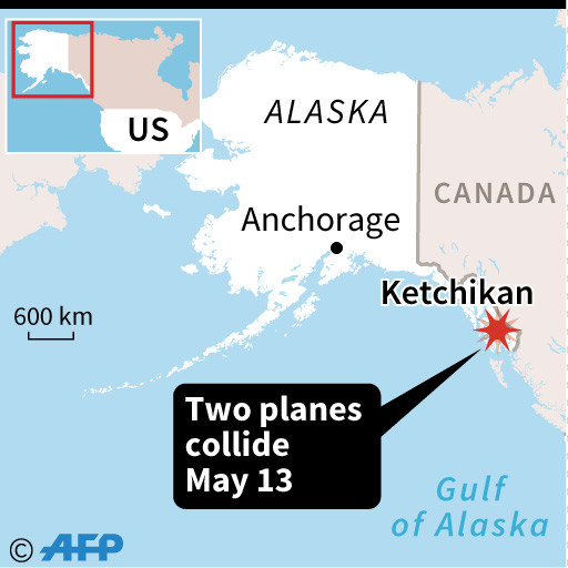 Five dead, one missing in floatplanes collision in Alaska
