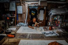 The appearance of Subandi Giyanto's studio next to his house in Bangunjiwo, Bantul, Yogyakarta. JP/Anggertimur Lanang Tinarbuko