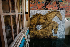Some of Subandi's works are waiting to be brought and exhibited in art galleries. JP/Anggertimur Lanang Tinarbuko