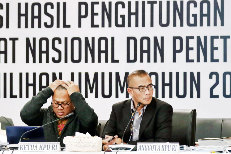Council dismisses Arief Budiman from KPU chairmanship for ethics breach
