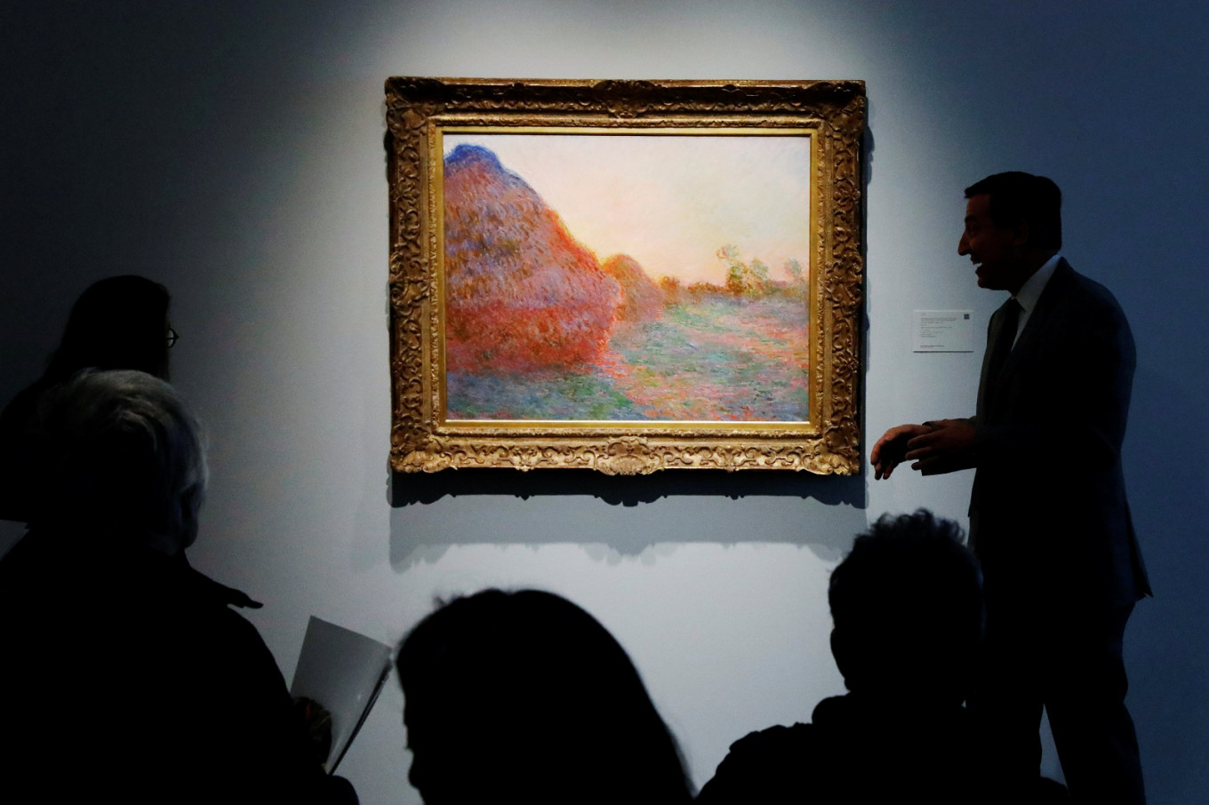 Monet 'Haystacks' painting sells for record $110.7m at auction
