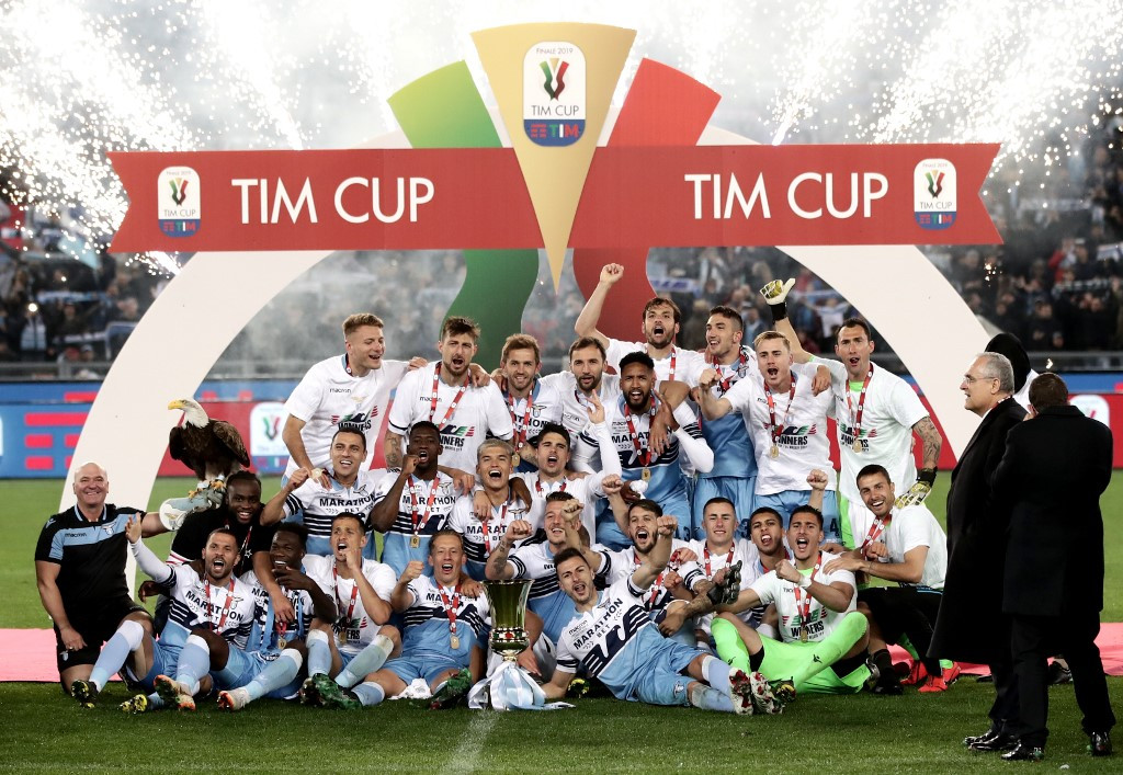 Lazio end Atalanta's dream as violence mars Coppa Italia final