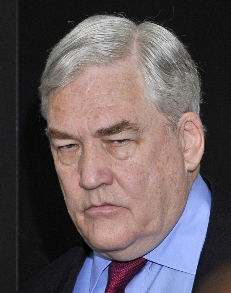 In this file photo taken on June 24, 2011 former press magnate Conrad Black arrives at federal court for a resentencing hearing in Chicago, Illinois. President Donald Trump on May 15, 2019 pardoned disgraced media mogul Conrad Black, who served more than three years in prison in the US for fraud and obstruction of justice.  (AFP/Brian Kersey/Getty Images). Usage: 0