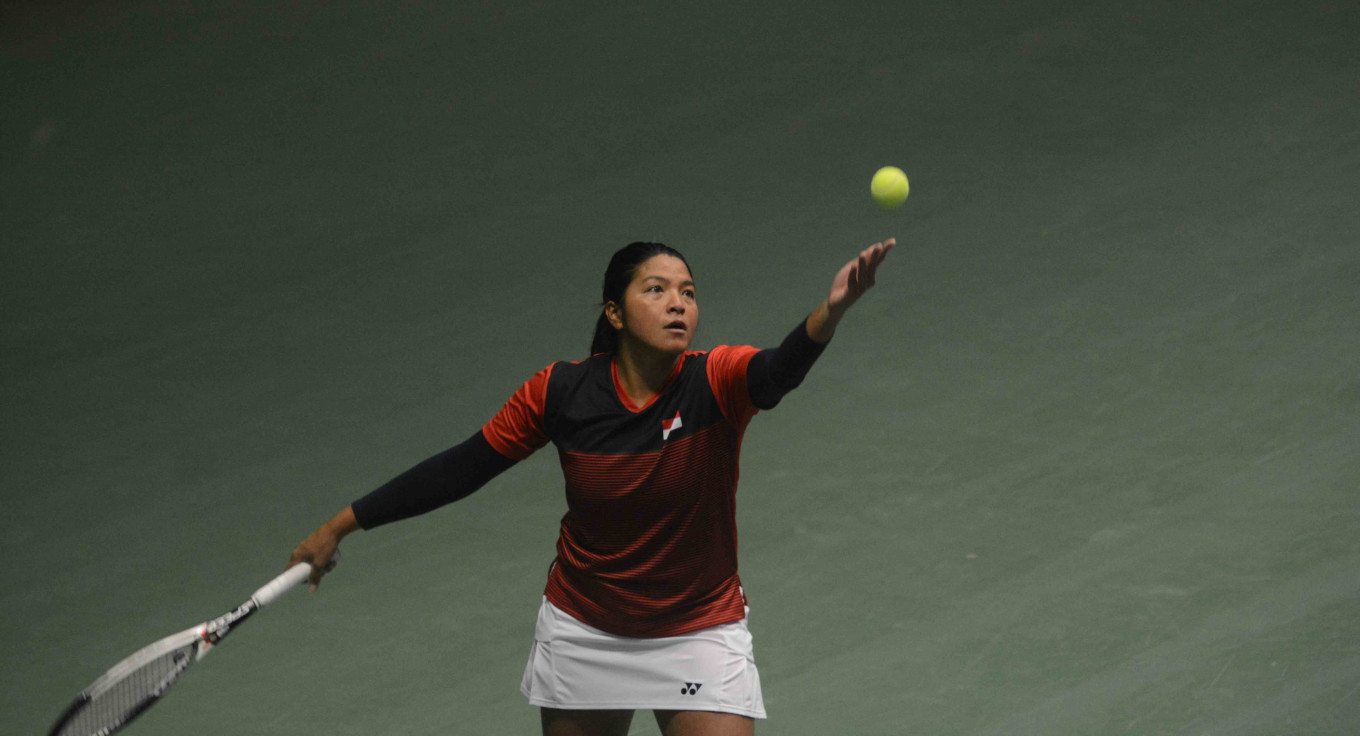 Indonesia's Jessy stuns sixth seed in Singapore tennis tournament