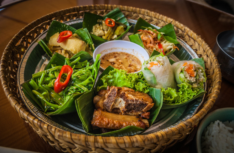 Typical Cambodian cuisine.