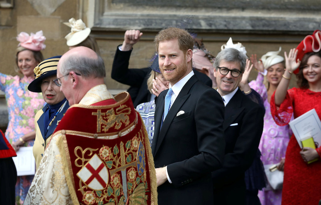 Britain's Prince Harry, queen attend Windsor Castle royal wedding
