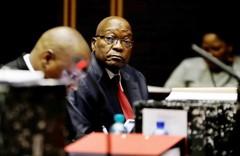 Arrest warrant issued for S. Africa ex-president Zuma