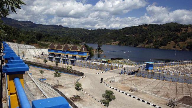 Jokowi inaugurates largest dam on NTT-Timor Leste border