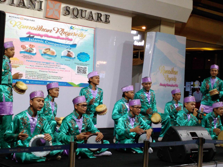 Youth group in Bogor plans Islamic art performance as distraction from 'people power'
