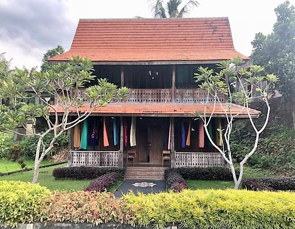Art statement: Flags as part of Arahmaiani's Flag Project are displayed at the San Wayan House of Masks and Puppets in Ubud, Bali. The display runs until May 31.