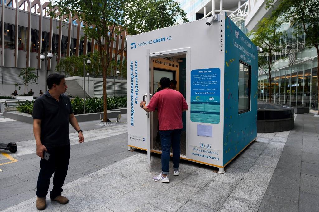 Smokin' hut: Singapore's solution for cigarette puffers