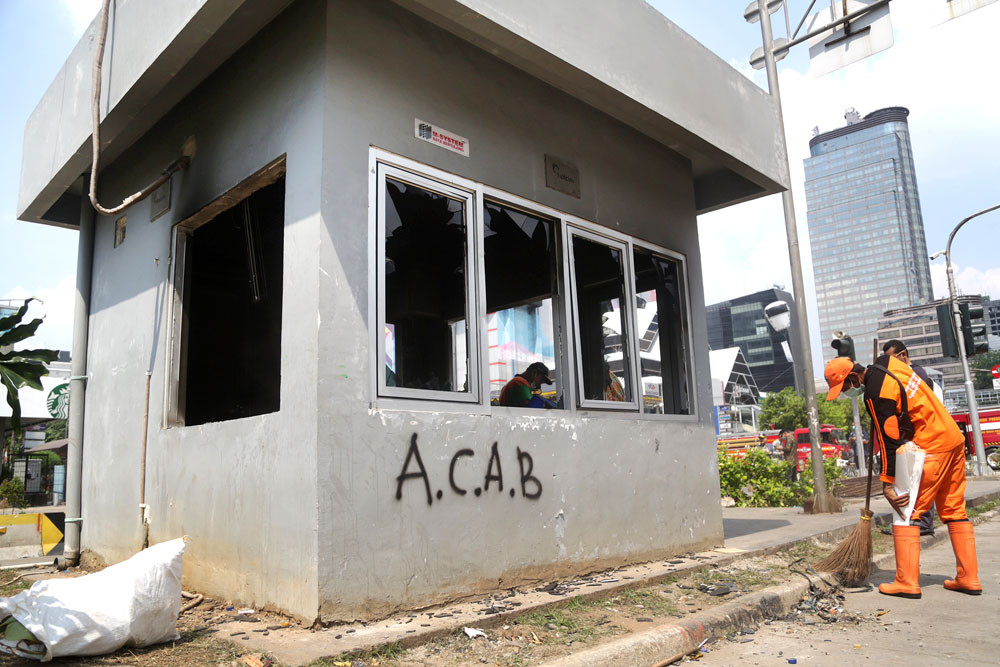 Damage from Jakarta riots costing Rp 465 million