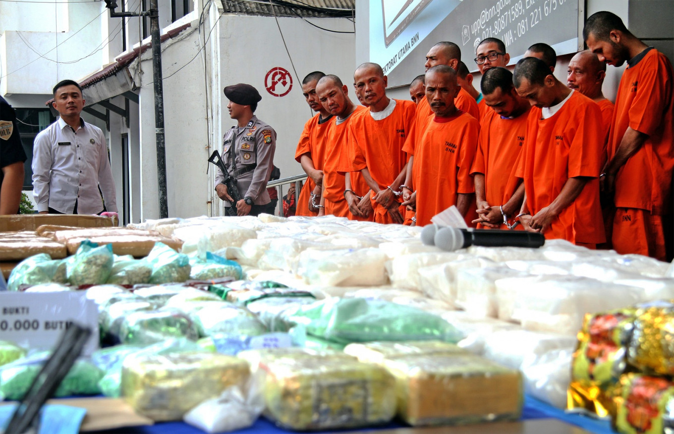 BNN finds 35 kg of crystal meth in truck carrying cabbages from Aceh