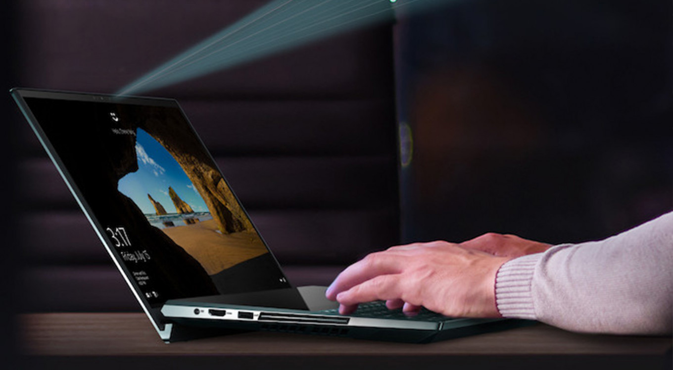 Asus debuts laptop with three screens, full-size mechanical keyboard