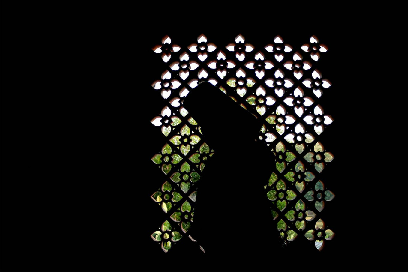 Backlight: A Sufi dancer's silhouette. JP/ Maksum Nur Fauzan