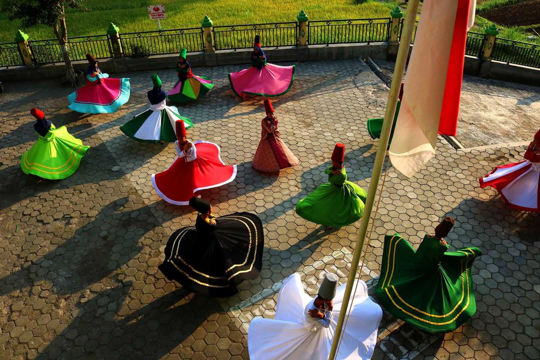 In nature: Sufi dancers love to train outdoors. JP/ Maksum Nur Fauzan