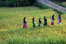 March on: Sufi dancers head for their dance location. JP/ Maksum Nur Fauzan