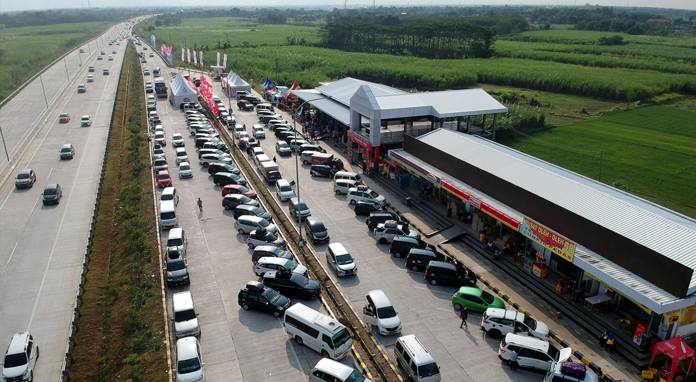 75 rest areas along trans-Java highway prepared for exodus