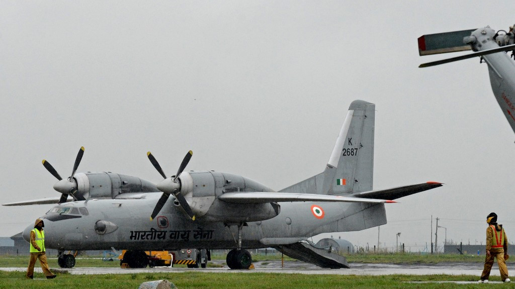 Indian military plane missing with 13 on board