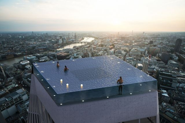 London could be home to world's first glass-bottom, 360-degree rooftop infinity pool